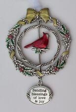 zz11cD Sending blessings of love joy Christmas Cardinal 3D Ornament Ganz