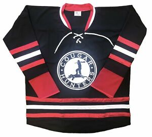 Custom Hockey Jerseys with the Cougar Hunters Embroidered Twill Logo $59