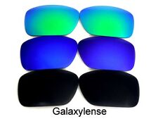 Galaxy Replacement Lenses For Oakley Breadbox Black&Blue&Green 3 Pairs