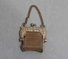 VintageTiny Miniature Mesh Purse Gold Tone