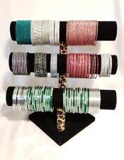 Wholesale Indian Bangles Bracelet Multi-Color Glitter Sparkle Rhinestone Display