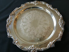 "Silver Platter Reed & Barton Numbered 1686 Vintage Plater Large 15"" Good Cond."