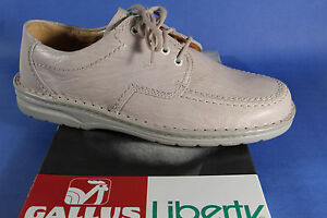 Gallus Liberty Men's Lace-Up Sneakers Trainers Offwhite Leather New