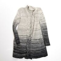 Calypso St. Barth Baby Alpaca Chunky Knit Open Front Ombre Cardigan Sweater S