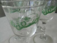 Vintage 5  Stemmed Cordial Liquor Glasses  with 1929 Bentley Logo