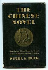 Pearl S BUCK / Chinese Novel Nobel Lecture Delivered Before the Swedish 1st 1939