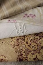 Antique French fabric linen PROJECT BUNDLE floral mixed materials for projects