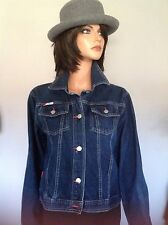9dd487bf73d Red By Marc Ecko Jeans Denim Jacket L Designer Fashion Hip Chic Stylish  Woman