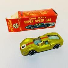 Mini Marx Super Speed Car die-cast UNO FERRARI Lime with Red Stripe Mint in box