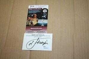 JOE FRAZIER SIGNED AUTOGRAPHED BUSINESS CARD SMOKIN JSA CERTIFIED RARE HOF