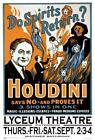 """Houdini - Do Spirits Return? Mini Poster 12"""" x 18"""""""