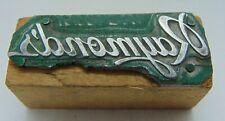 Vintage Printing Letterpress Printers Block Raymonds