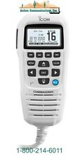 Icom Hm195Gw Commandmic Iv With White Backlit Lcd In Super White