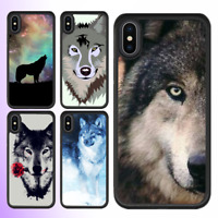 iPhone XS MAX XR X 8 7 6s Plus SE 5s 5c Case Wolf Animal Bumper Shockproof Cover