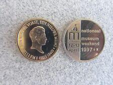 Nederlands Muntmuseum Koning Willem I en Museum weekend 1997, 26 mm Koper-Nikkel