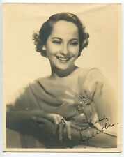 Merle Oberon Signed Double Weight Original Photo 1939 Portrait Wuthering Heights