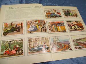 Technik und Verkehr , Sammelbilder - Album , Homann Margarine Reklame 1952