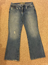 "GENTS MENS GUESS JEANS 36"" WAIST 33"" LEG BLUE DISTRESSED LOOK"