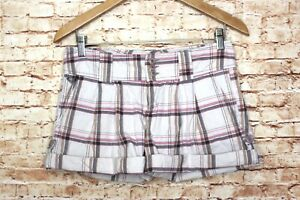 Roxy | Y2K Low Rise Plaid Shorts Juniors 3 Rolled Cuff