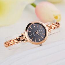 Luxury Women Lady Bracelet Stainless Steel Crystal Dial Quartz Wrist Watch Gift