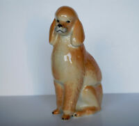 Lomonosov PORCELAIN Figurine DOG POODLE TAN.BIG@