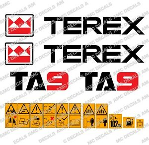 TEREX TA9 DUMPER STICKER DECALS