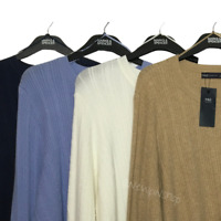 M&S Ladies Jumper Navy Blue OR Cream OR Camel or Light Blue Cable BNWT Marks