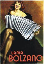 "TARGA VINTAGE ""LAMA BOLZANO"" Pubblicità, Advertising, Poster, Plate, Art Retro"