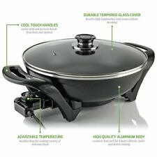 Ovente Sk3113B Non-Stick Electric Skillet with Aluminum Body - OVERSTOCK
