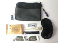 Delta Airlines Soft Tumi Amenity Kit Gray 2019 With Hand Cleanser and Eye Mask