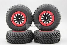 4pcs RC 1/10 Bead Lock Short Course Tire Tyre Set 12mm hex 1/2 offset 30004