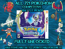 Unlocked Pokemon Moon All 802 Shiny All Items Max Money And More
