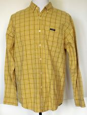 Sport Replay Yellow Plaid Button-Front Long Sleeve Cotton Shirt L