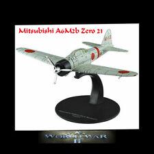 Mitsubishi A6M2b Zero 21 WW 2 Carrier Fighter Airplane Aircraft Die-cast 1/72