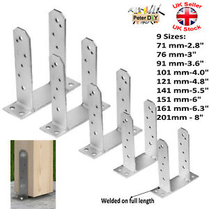 """Heavy Duty Galvanised (""""TT"""" Type) Post Foot Fence Foot Anchors Bolt Thick:5mm"""