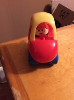 Little Tikes Toddle Tots Cozy Coupe 1 Person Car Vintage Toy 1988 With Boy Y