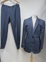ERMENEGILDO ZEGNA Men's Grey Pin Striped Blazer Jacket Suit Set IT52R UK42
