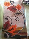 Fall Autumn Leaves Latch Hook Rug Complete 30 Inches By 54 Inches Free Shipping