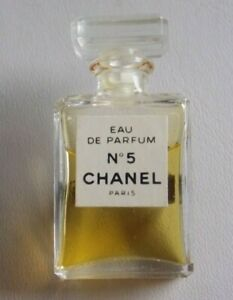 Genuine Chanel Miniature Perfume Bottle Brooch with contents