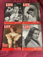 Lot of 4 Nice Life Magazines all Printed in August 1947   Very Good