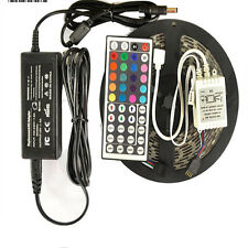 5 Meter RGB Color Changing SMD 5050 Flexible LED Strip Kit, FULL SET