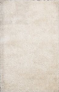 Thick-Plush Solid Contemporary Shaggy Oriental Area Rug Hand-tufted 5'x7' Carpet