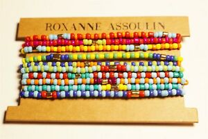 Roxanne Assoulin Patchwork Brite Bracelet Set of 10  NWT/on card Lot#679