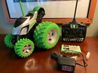 Green Toys R Us Fast Lane R/C Green Monster Tumbler Truck w/Remote Vintage Rare