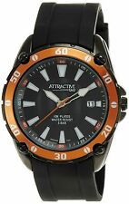 Q&Q by Citizen Attractive DA00J502Y Men's Steel Watch Black Resin Strap NO BOX