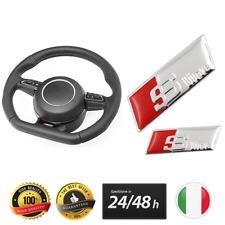 ADESIVO AUDI S-LINE VOLANTE CROMATO SLINE 2,7X0,88 CM A1 A3 A4 A5 A6 Q3 Q5 TT