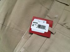 NWT NEW Saks Fifth Ave. Red Mens Trim Fit cotton Chino Pants Flat Front 30Wx32L