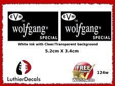Charvel EVH Wolfgang Special Guitar Headstock Decal Restoration Waterslide 124w
