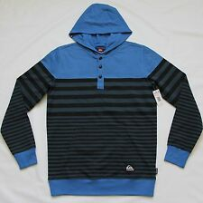 QUIKSILVER MENS FORTIN COLORBLOCK HOODED PULLOVER SWEATSHIRT HOODIE JACKET XL