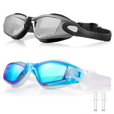 2 Pair UV 400 Anti Fog Swimming Glasses Goggles No Leaking For Men Women Child